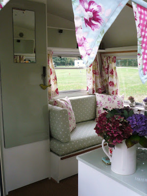 vintage wedding trailer