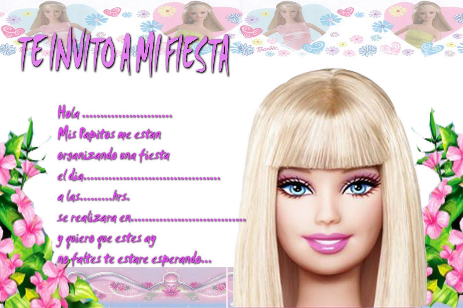 Tarjetas De Cumpleaños Para Imprimir Barbie