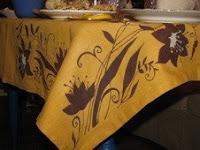 Для такого рода росписи по ткани необходимо использовать нерастекающиеся...