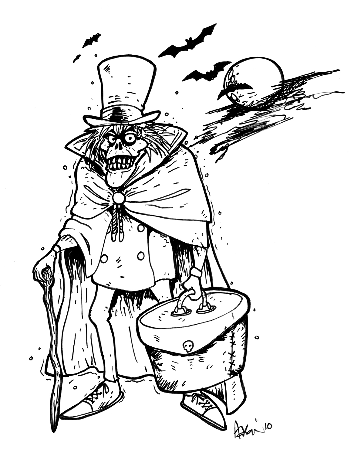 The gallery for disneyland haunted mansion coloring pages for Mansion coloring pages