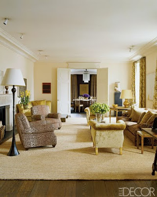 Aerin Lauder living room designed by Jacques Grange