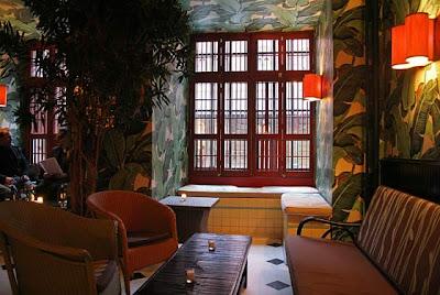 indochine restaurant nyc, banana leaf wallpaper,Catherine Deneuve
