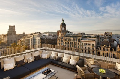 mandarin orientral barcelona rooftop by patricia urquiola via belle vivir blog