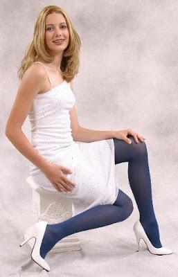 Blue Patterned Pantyhose For Men 97