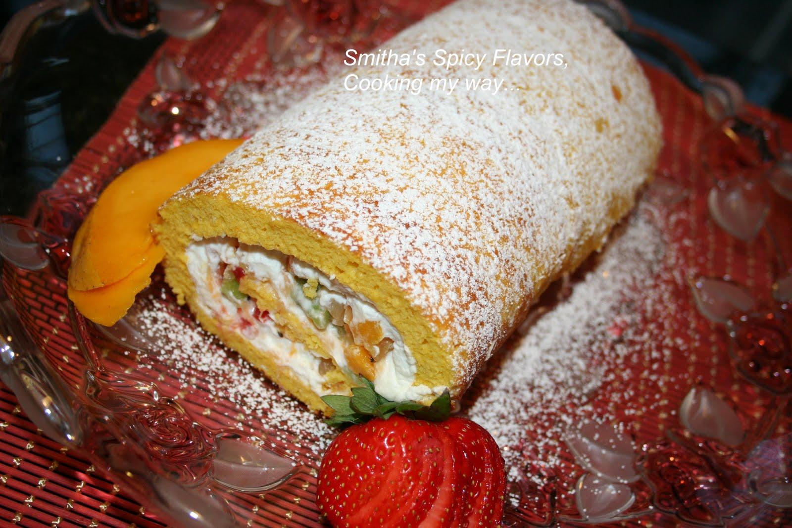 Mango Cake Fruit Roll