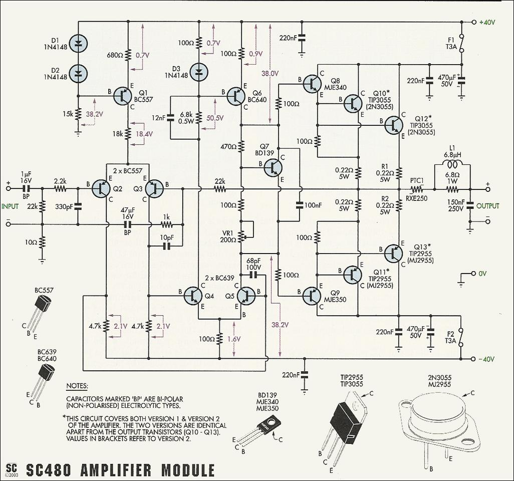 medium resolution of ro electronica schema amplificator audio cu 2n3055 sau