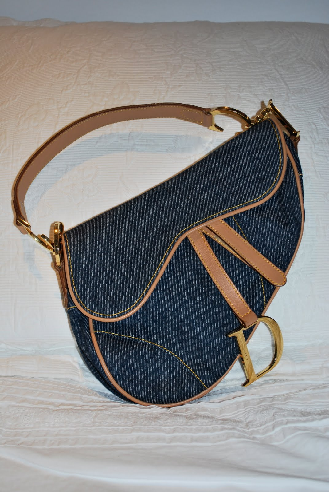 Authentic christian dior denim saddle bag bagalicious jpg 1071x1600 Authentic  christian dior saddle bag b3d8cf10f6744