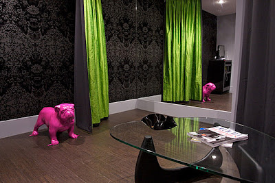 Of Lime Green And Hot Pink Took A Serious Muted Palette Up Notch To Fun Glamorous Somewhat Kitschy Interior With The Addition