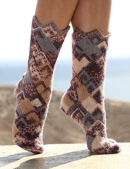 Носки Домино вязаные спицами.  Да для вязания этих носков, терпение и...