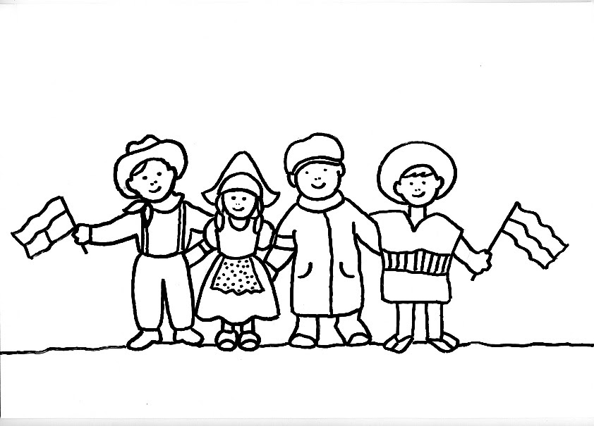 Dibujo De Nacionalidades Para Colorear