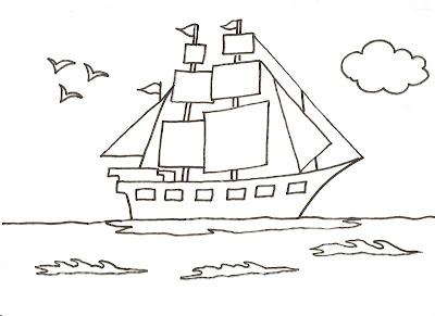 Dibujos Para Pintar Y Colorear De Barcos Barco A Vela