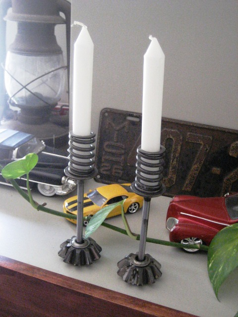 Car Part Candle Holder