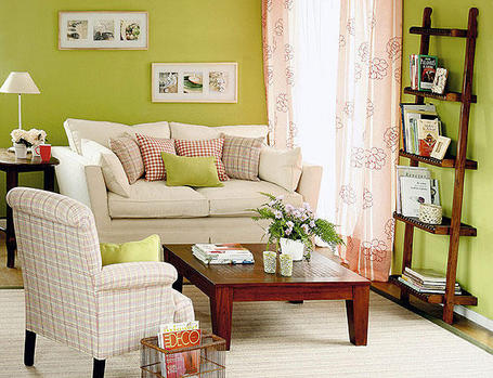 Colores para Decorar Como combina pared verde saln