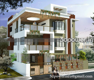 """3d rendering of bungalow"""