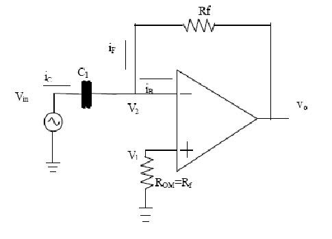 Free Schematic Diagram: Differentiator Op-Amp Circuit