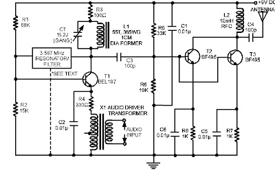 Am Radio Circuit Using Transistor Diagram Schematic