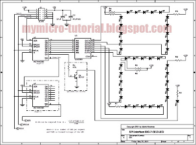 circuit diagram: SPI Interface Circuit for Big 7 Segment LED