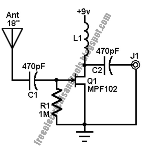 Free Schematic Diagram: Accelerometer Amplifier Circuit