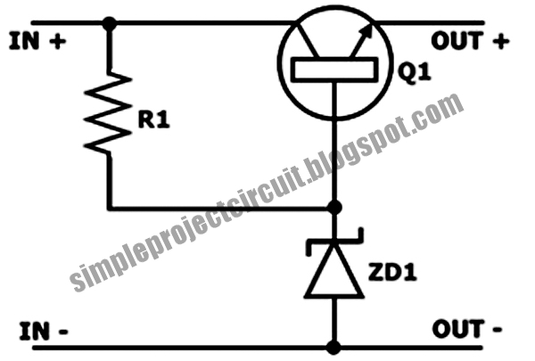 Simple Project Circuit: Simple Series Voltage Stabilizer
