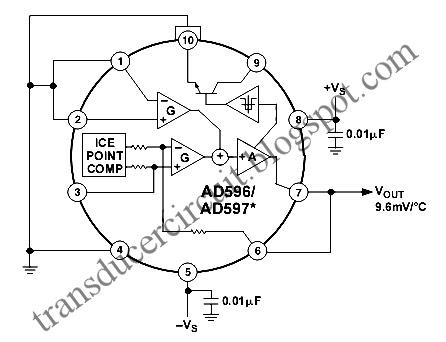 597 Temperature Transducer Sensor Transducer Circuit Diagram
