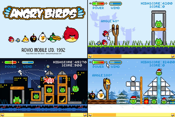 smallAngry-Bird-Retro_all Designers ingleses criam gráficos de 8 bits para Angry Birds