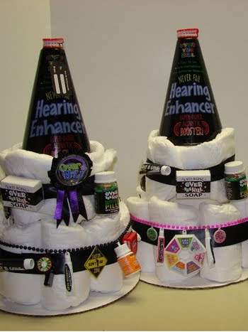 Custom Diaper Cakes By Ashland Over The Hill Cakes