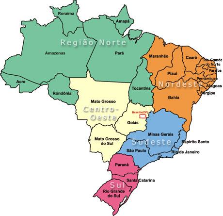 Mapa Brasil Estados Desenhos Para Colorir