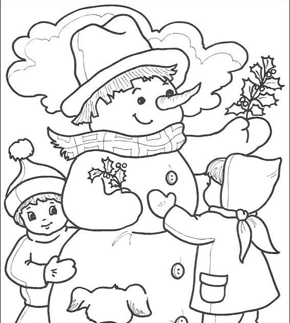 Desenhos Para Pintar E Colorir.: Boneco De Neve