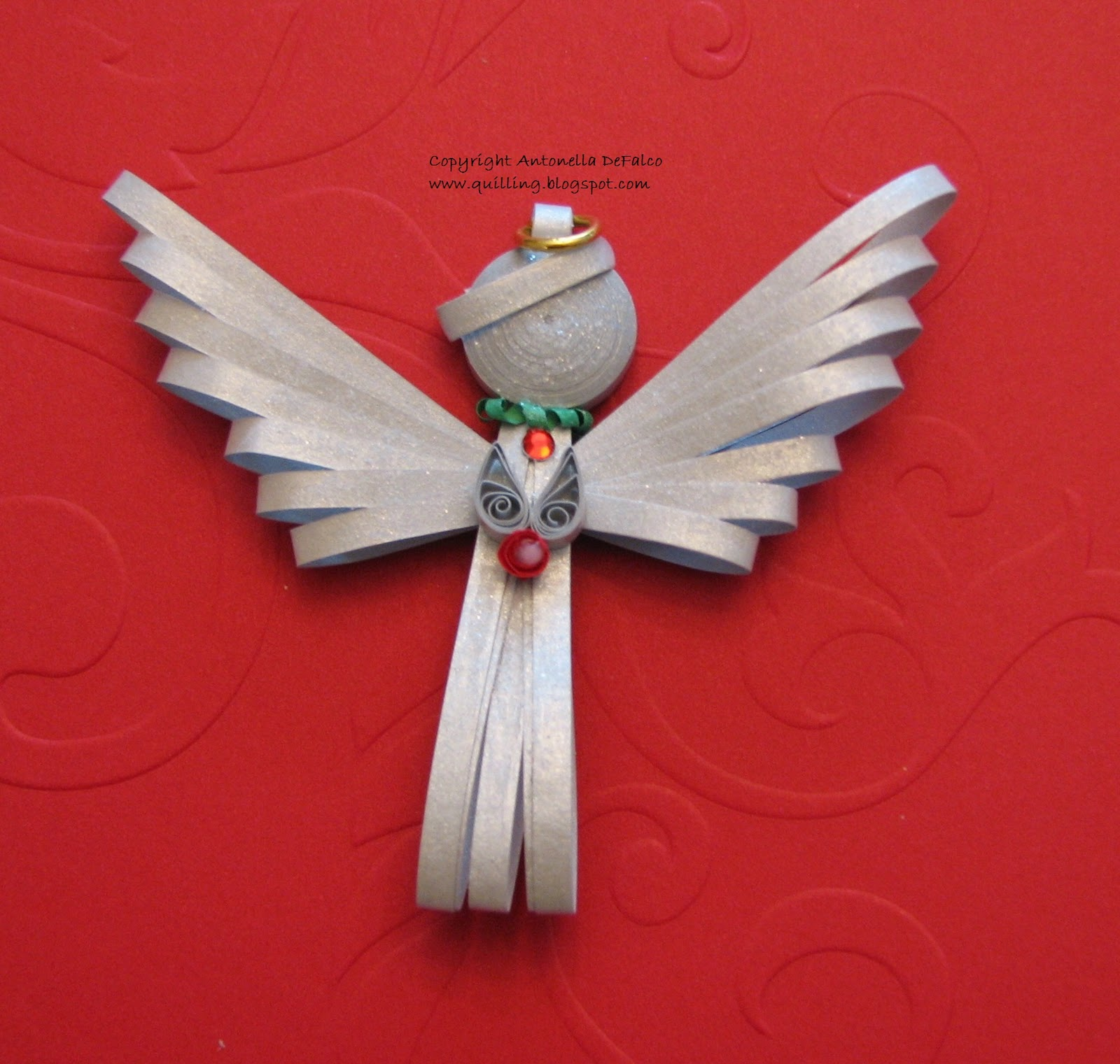 Quilling Art And Expression Free Quilled Angel Pattern