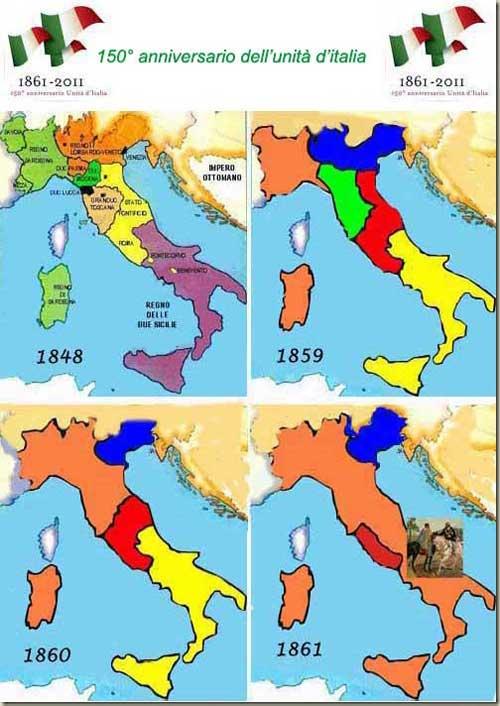 Cartina Italia Prima Dell Unificazione.Amici In Allegria 150 Anniversario Dell Unita D Italia