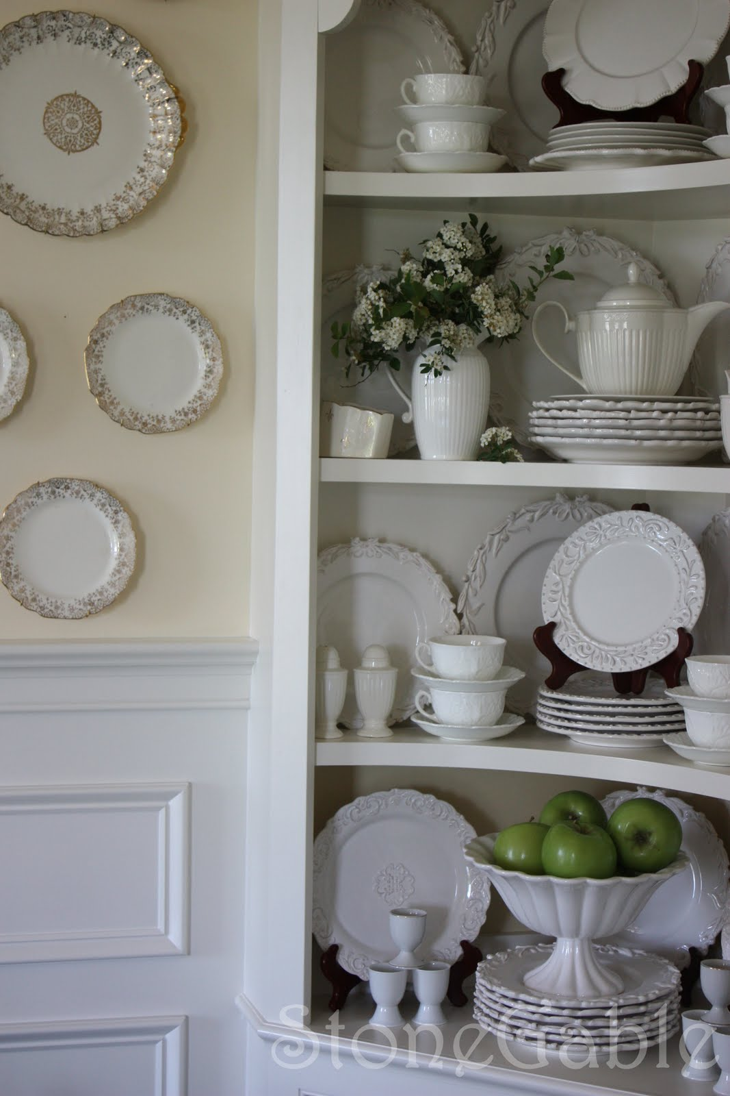 How To Display Bowls Summer Cupboard Stonegable