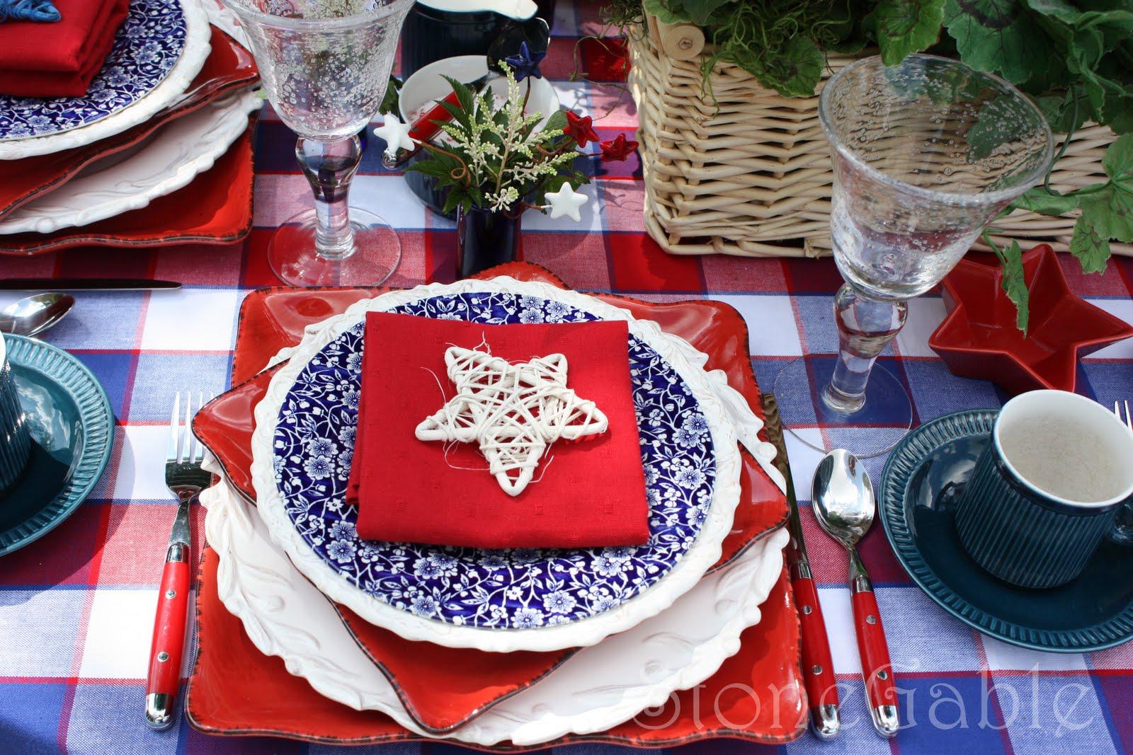 Memorial Day Table Stonegable
