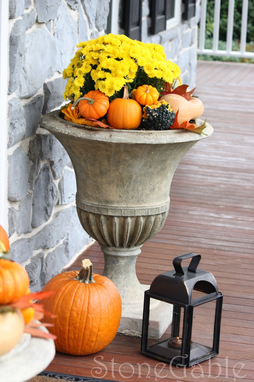 Outdoor Fall Decor - StoneGable on Fall Backyard Decorating Ideas id=94015