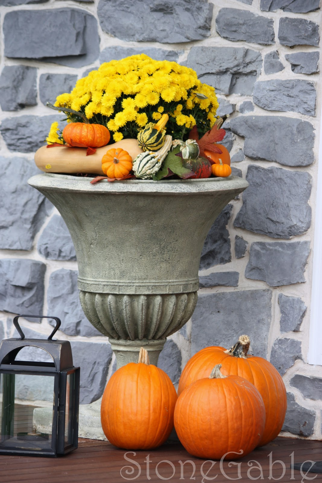 Outdoor Fall Decor - StoneGable on Fall Backyard Decorating Ideas id=11458