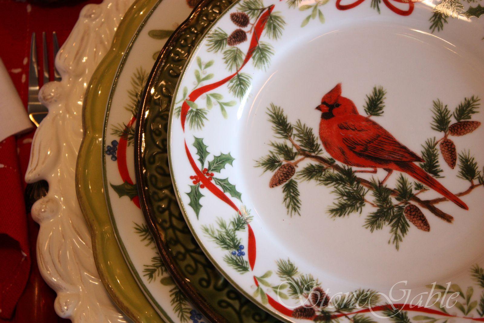 Christmas China Plates