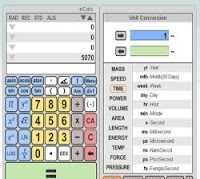 Calcolatrice scientifica con grafici per risolvere equazioni e funzioni