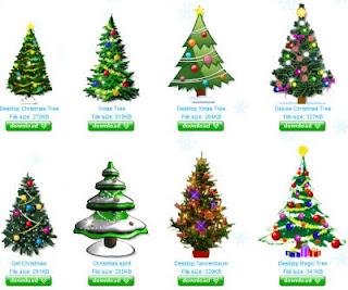 alberi di natale sul desktop