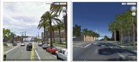 Immagini del passato e vista delle città su Google Earth