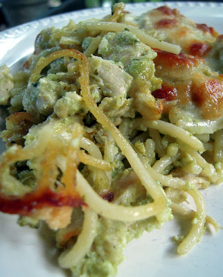 Cheesy Chicken Pesto Pasta