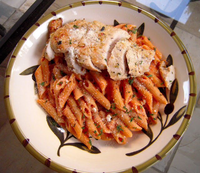Barbecue Pork And Penne Skillet Recipe: Grilled Chicken & Tomato Cream Sauce