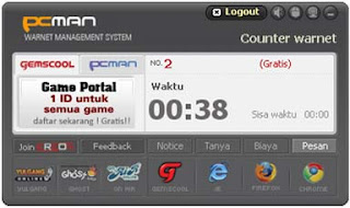 Billing Warnet Alternatif Gratis - PC Manager PCMAN