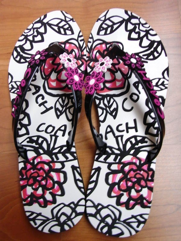 874ad2d5d Savvy Mode  Coach Flower Jelly Sandals