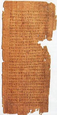 Un texte du 4ème Siécle sur Jésus dans Partages et Enseignements papyrus01