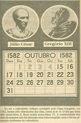 Resultado de imagem para calendário gregoriano
