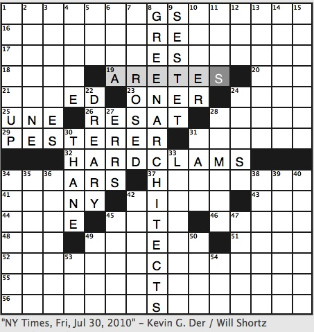 Rex Parker Does The Nyt Crossword Puzzle July 2010