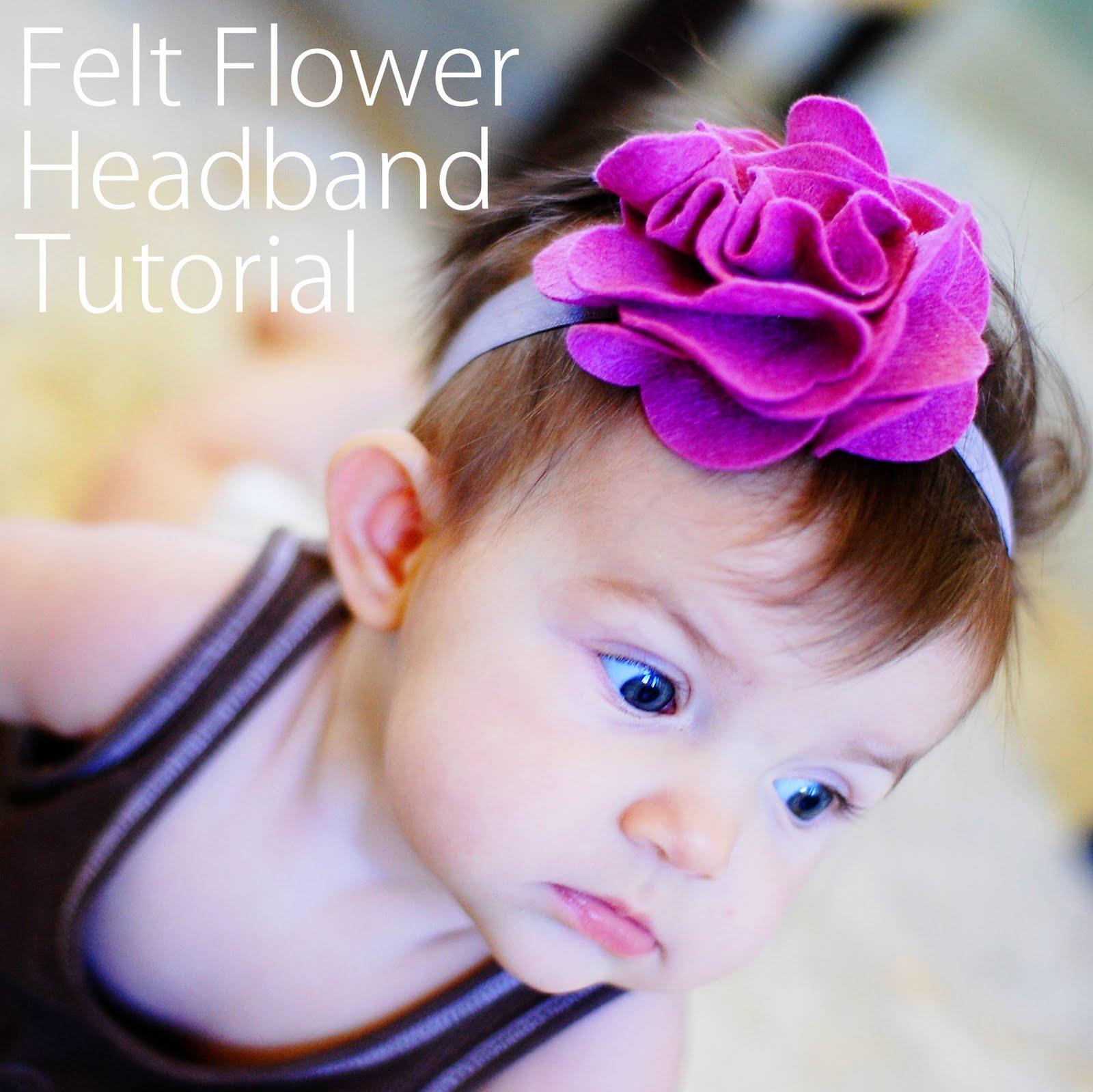 Free Baby Projects: Felt Flower Headband