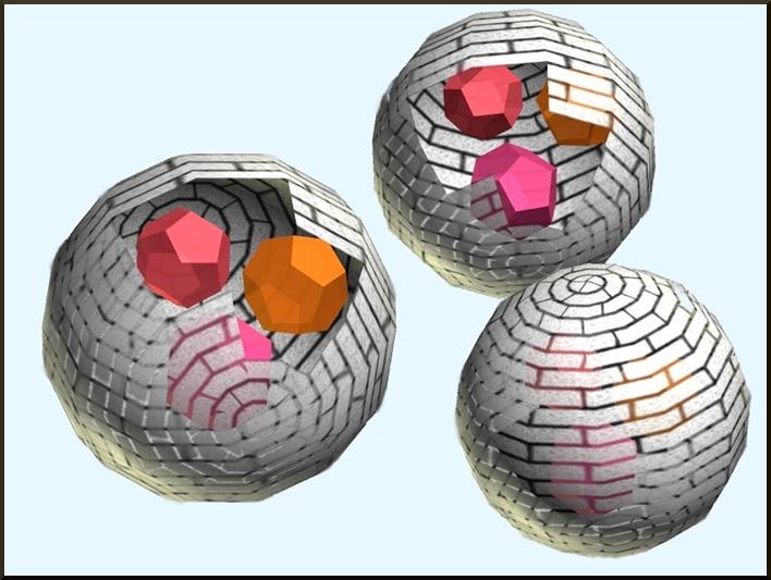 Blue sky d art glass spheres flower balls and sculptures