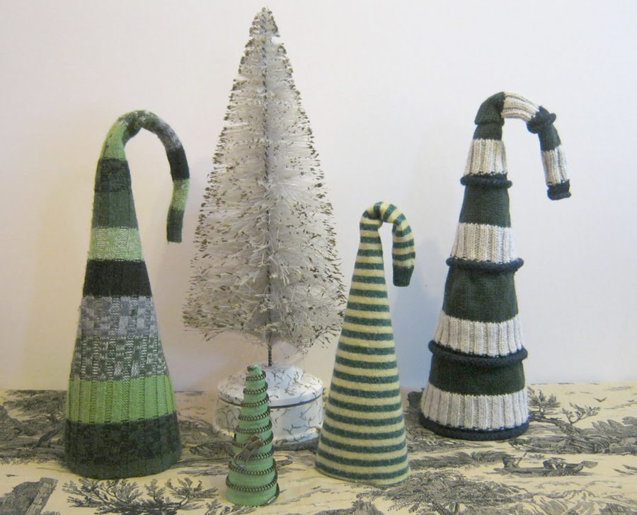 Sweater Surgery: Recycled Sweater Christmas Trees...or