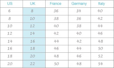 Us uk  european size conversion chart also findafashionshop rh findafashionshopspot