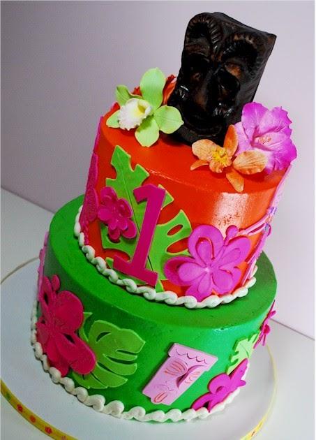 Cup A Dee Cakes Blog Hawaiian Luau Birthday Cake